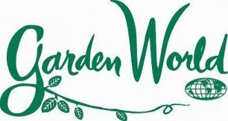 Logo tuincentrum Garden World Flushing