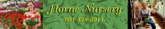 Logo tuincentrum Horne Nursery