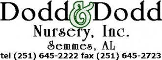 Logo tuincentrum Dodd & Dodd Wholesale Nursery