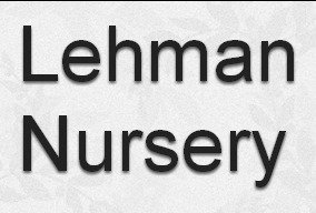 Logo tuincentrum Lehman Nursery