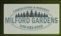 Logo tuincentrum Milford Gardens