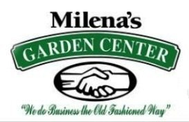 Logo tuincentrum Milena's Garden Center