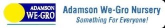 Logo tuincentrum Adamson We-gro Nursery & Gdn