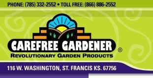 Logo tuincentrum Carefree Gardener