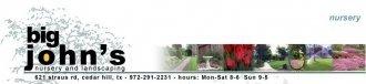 Logo tuincentrum Big John's Nursery & Landscape