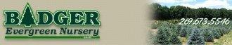 Logo tuincentrum Badger Evergreen Nursery
