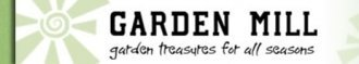 Logo tuincentrum Garden Mill