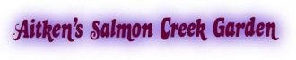 Logo tuincentrum Aitken's Salmon Creek Garden