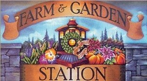 Logo tuincentrum Farm & Garden Station