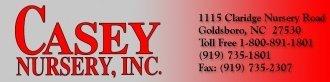 Logo tuincentrum Casey Garden Center