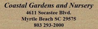 Logo tuincentrum Coastal Gardens & Nursery