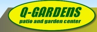 Logo tuincentrum Q-garden Patio & Garden Center