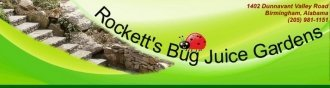 Logo tuincentrum Rockett's Bug Juice Gardens