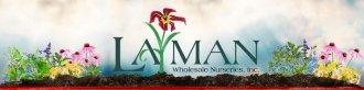 Logo tuincentrum Layman Wholesale Nurseries