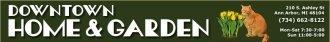 Logo tuincentrum Downtown Home & Garden