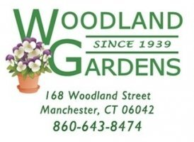 Logo tuincentrum Woodland Gardens
